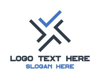 Pattern - Abstract X Pattern logo design