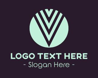 Stylish Letter V Logo
