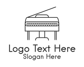 Piano - Black Grand Piano  logo design