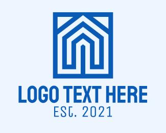 Architect - Blue House Architect logo design
