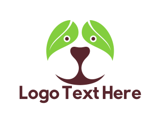 Doggie - Leaf Dog logo design