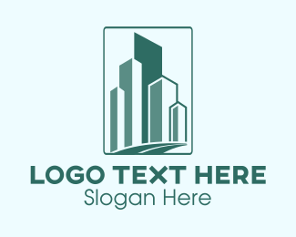 Building - Geometric Buildings Road logo design