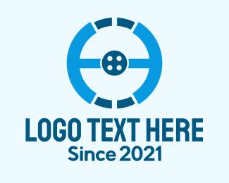 Wheel - Steering Wheel Button logo design