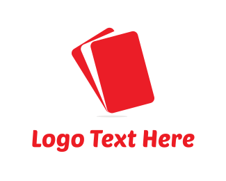Stationary - Red Layers logo design