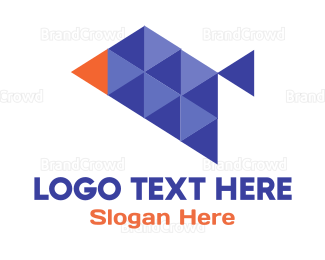 Orange And Purple - Triangle Bird logo design