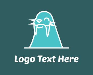 Seahorse - Walrus Cartoon logo design