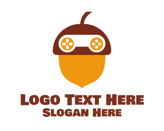 Hazelnut - Acorn Game logo design
