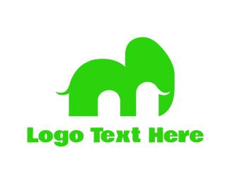 Mammoth - Green Mammoth logo design