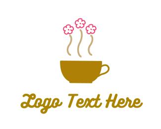Coffee - Flower Cup logo design