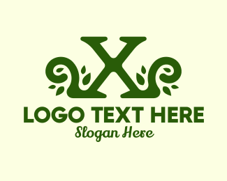 Event Styling - Garden Letter X Vines logo design