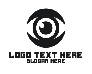 Cctv - Black Eyeball logo design