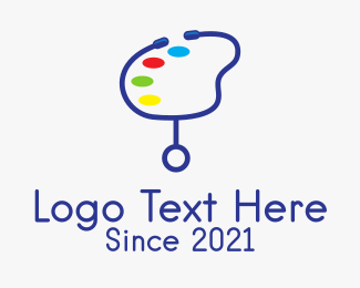 Paint - Stethoscope Paint Palette  logo design