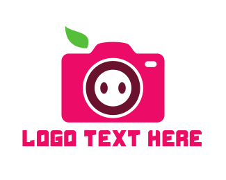 Video Camera - Pig Photographer Camera logo design