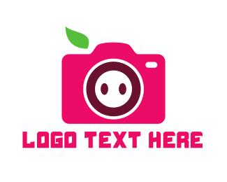 Video Camera - Pig Camera logo design
