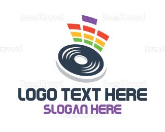 Hip Hop - Vinyl Equalizer logo design