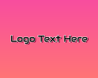 """Digital Pink Text"" by BrandCrowd"