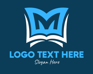 Teaching - Book Letter M logo design