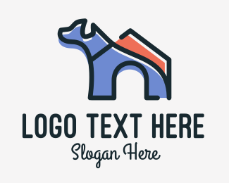 Pet Food - Dog House Kennel logo design