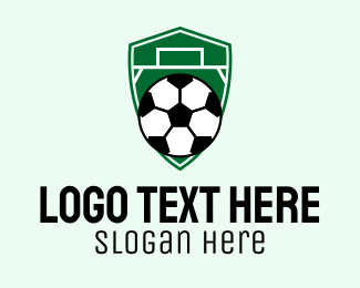 Shield - Soccer Ball Field Emblem  logo design