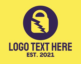 Locked - Electrical Padlock logo design