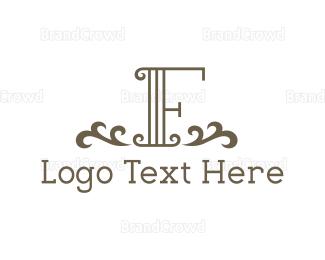 Conservative - Vintage Letter F logo design