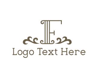 Leaf - Vintage Letter F logo design