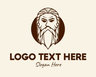 Zeus - Man Guy Beard  logo design