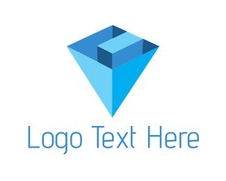 Central - Diamond Letter C logo design