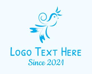 Sparrow - Blue Sparrow Ornament logo design