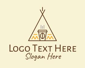 Coffee - Coffee Cafe Tent logo design