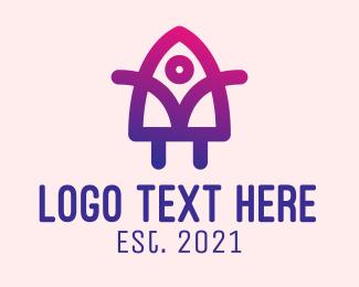 Scientist - Human Rocket Scientist logo design