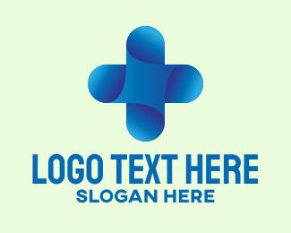 Medical Center - 3D Medical Cross logo design