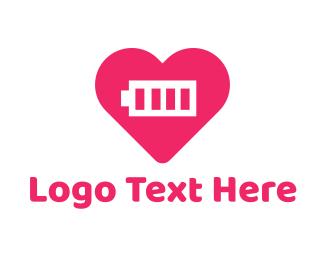 Loading - Heart Battery logo design