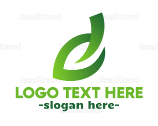 Biology - Green Leaf Stroke logo design