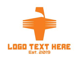 Cross - Eagle Cross logo design