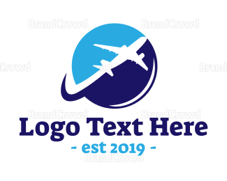 Travel Agent - Jumbo Airplane logo design