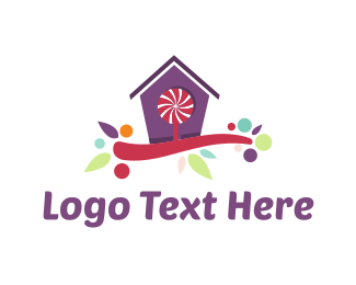 Candy Cane - Candy House logo design