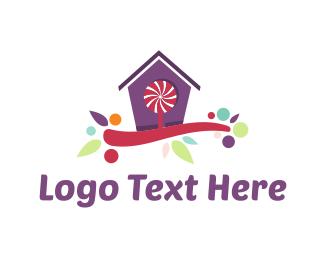 Lollipop - Candy House logo design