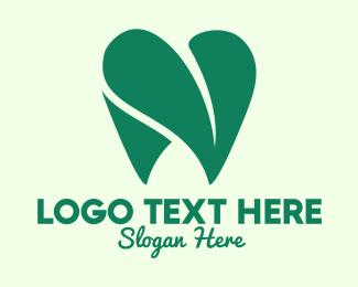 Logo Design - Dental Love Leaf