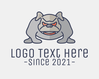 Pitbull - Angry Pitbull Dog logo design