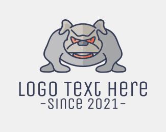 K9 - Angry Pitbull Dog logo design
