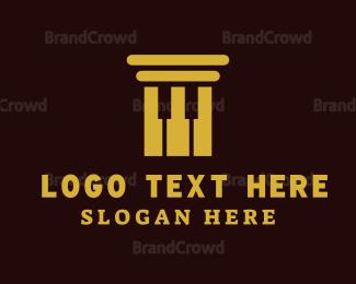 Law - Law Piano logo design