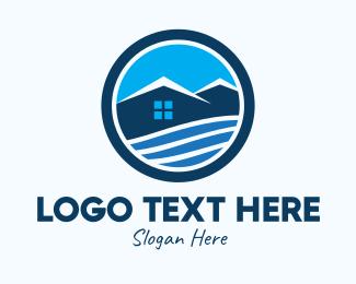 Lodge - Mountain Top House logo design