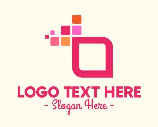 Software Development - Digital Abstract Square logo design