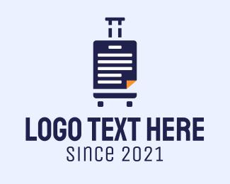 File - Travel Document File Manager logo design