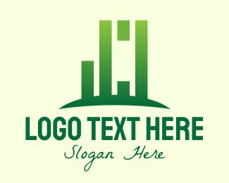 Bamboo - Green Abstract Bamboo Tree logo design
