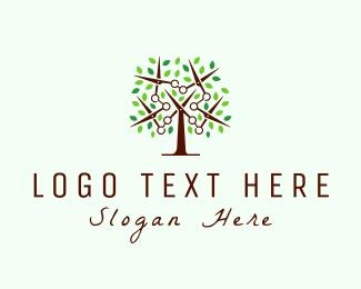 Haircut - Scissors Tree logo design