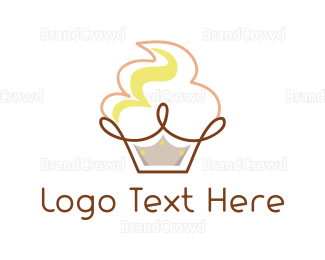 Bakeshop - Cupcake Crown logo design