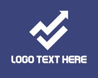 Rise - White Arrow logo design