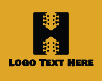 Music - Guitar Letter H  logo design